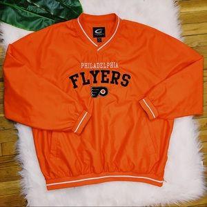 VTG 90s Philadelphia Flyers Windbreaker Pullover